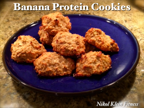 banana protein cookies